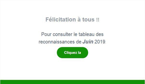 Reconnaissances Juin 2019 !